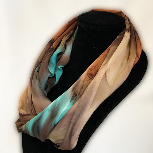 "Hand-Painted Silk Scarf, 11"" x 60"" MV324"