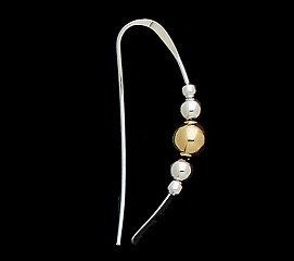 Earrings: Sterling Silver w Silver/Gold Beads  2JA81