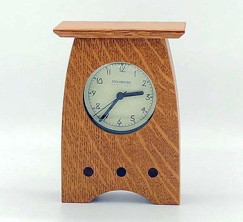 "Mantel Clock: Oak, 7""h x 4.75""d x 2.25""d  WZ226"