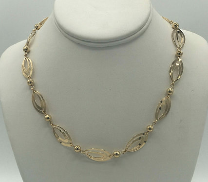 "Necklace: Gold Filled w Gold Bead 18"" 2JA64"