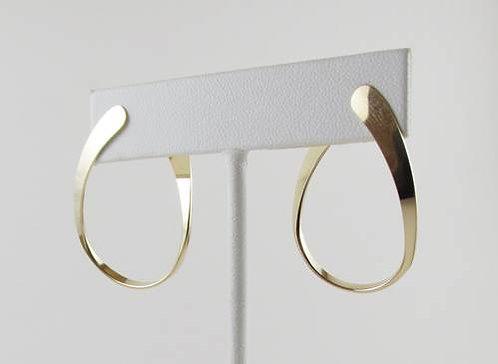 Earring: Gold Filled Flat Hoop w Post            2JA21
