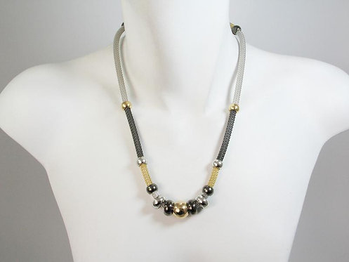 Necklace: 7 Section Mesh w/Beads  JZ565