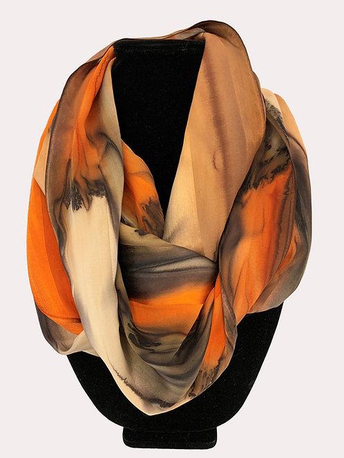 "Hand-Painted Silk Scarf, 11"" x 60"" MV323"