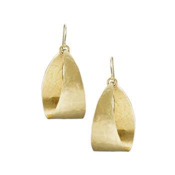 Earring: Brass Wide Loop, dangle        1JE208