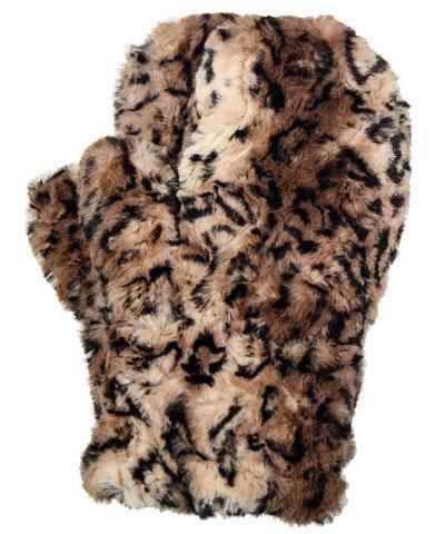 "Pandemonium Faux Fur Reversible Mittens: ""Carpathian Lynx"" MC804,805"