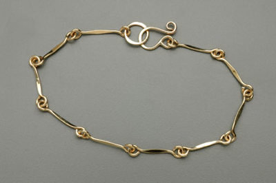 Bracelet - Gold Filled Links             JI166
