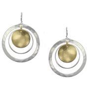 Earrings: silver, brass dangles  1JE368