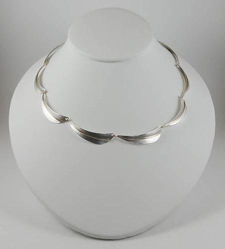 Necklace: Linked Sterling Silver Leaves, w G. Filled    2JA-28
