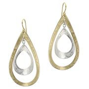 Earring - Brass and silver mixed 1JE3439