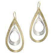 Earrings: Brass, Silver dangles 1JE362