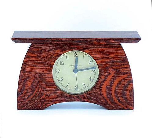 "Mantel Clock:  Craftsman Oak, 7.5""h x 4.5""w x 2.25""d  WZ213"