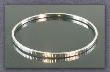 Bracelet - Textured Bangle, Sterling Silver             JR367