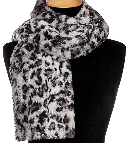 "Pandemonium Faux Fur Reversible Scarf: ""Savannah Cat & Black"" MC816, 817"
