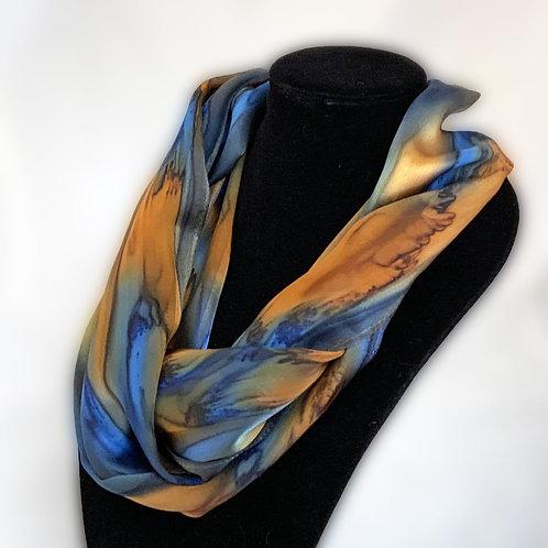 "Hand-Painted Silk Scarf  11"" x 60"" MV313"