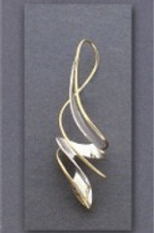 Earring - Sterling Silver/Gold Filled Dangle    JR-498