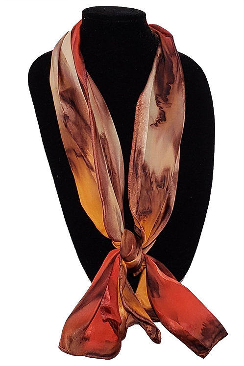 "Hand-Painted Silk Scarf, 11"" x 60"" MV310"