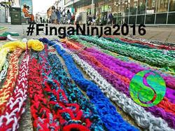 Finger Knitting in the High St