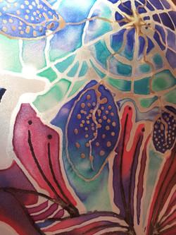 Samia's own silk painting
