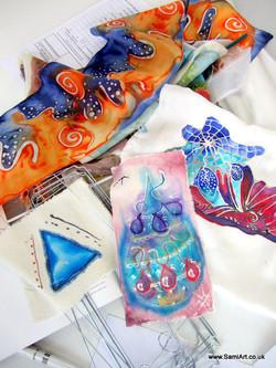 Samia's art work sample silks