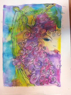 silk painting - after