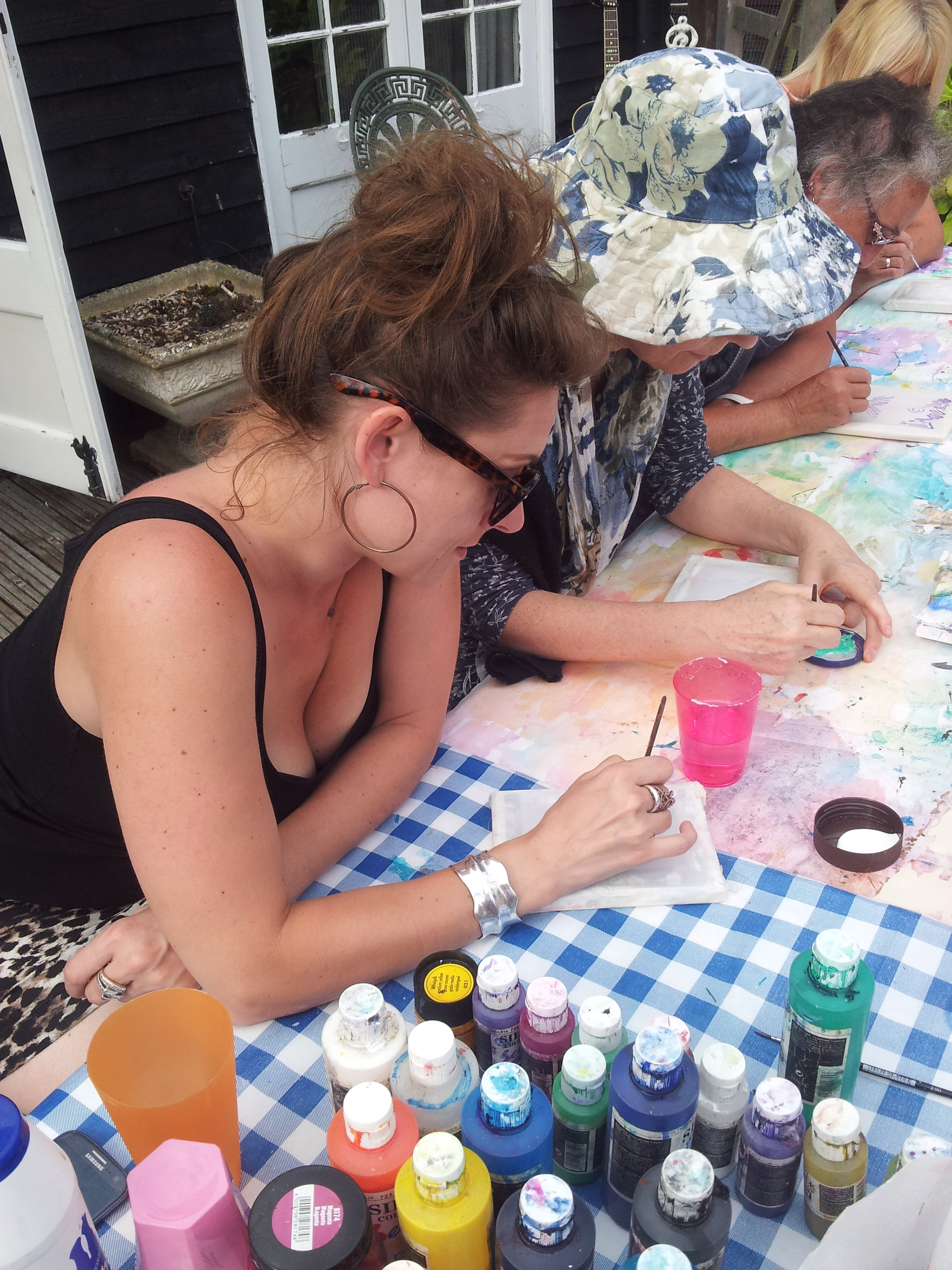 silk painting workshop