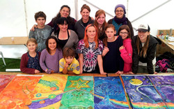 Public Art Silk Painting