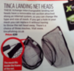 Review of Tinca Fishing Landng Net from 2016. Innovatve iterchangeable landing net for match fishing.