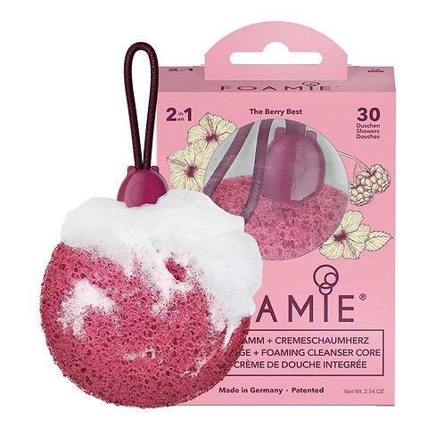 Éponge de douche avec savon intégré Fruits rouges