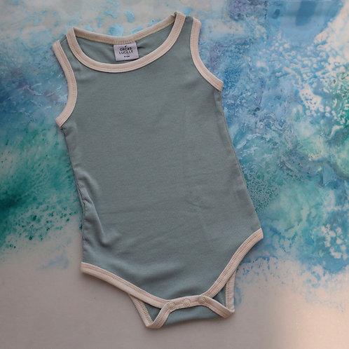 Ribbed Bodysuit - Ocean