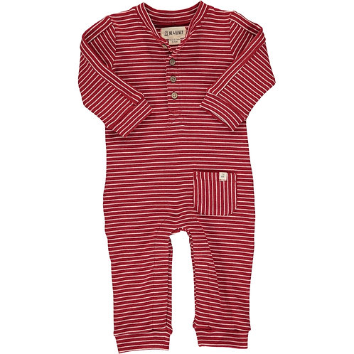 Red Stripe Jersey Romper