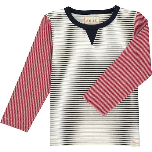 White Stripe Light Weight Sweater