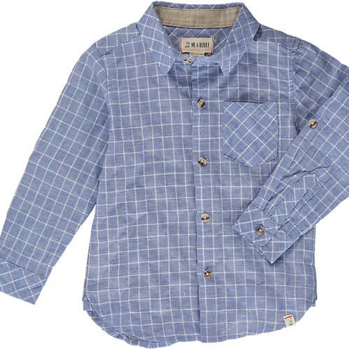 Blue Grid Woven Shirt