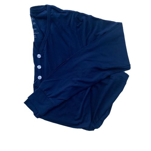 Women's Long Sleeve Henley Sleep Shirt