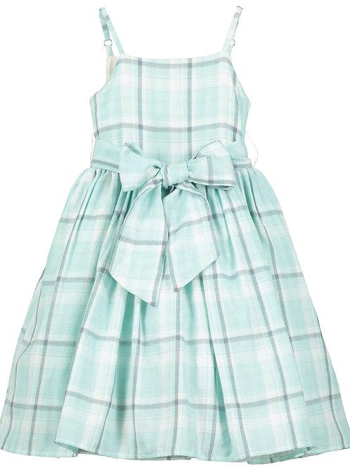 Jennie Dress - Aqua Check