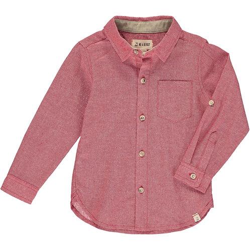 Red Woven Shirt