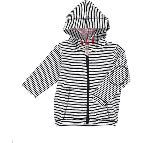 Padstow Terry Cloth Jacket- black/white stripe