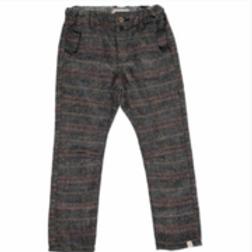 Gray Plaid Woven Pants