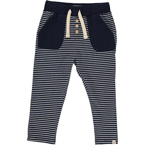 Navy Stripe Jogger Pant