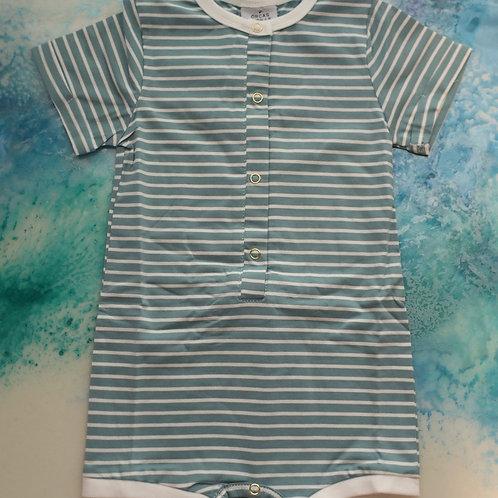 Shortie Romper - Ocean Stripe