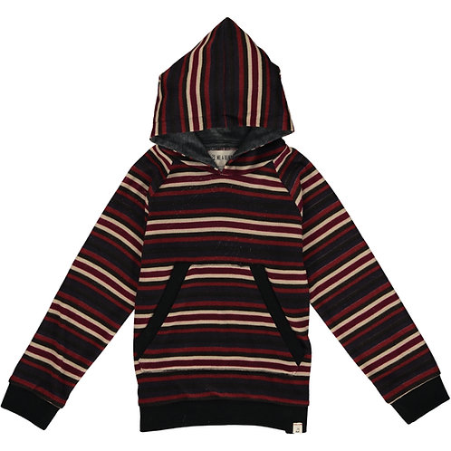 Multi Stripe Hooded Sweater