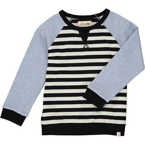 White/Black Stripe Raglan Sweater