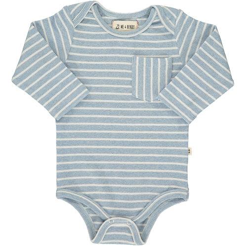 Blue/White Stripe Onesie