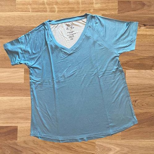 Women's V-neck Sleep Shirt - Teal
