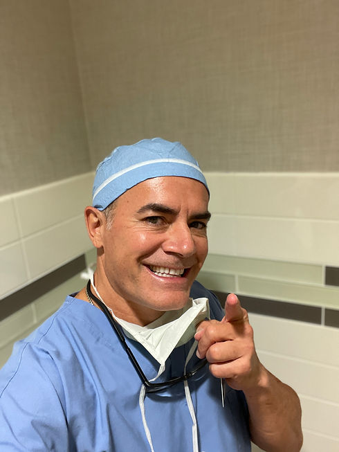 Dr Lugo in the operating room
