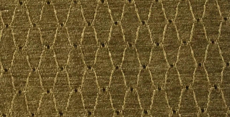 Gold Trellis Brown Dot