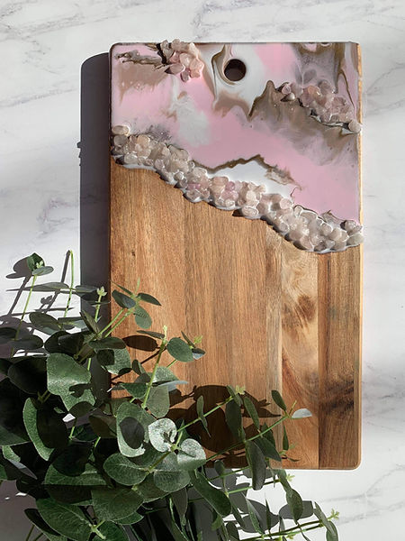 Geode Resin Cheese board