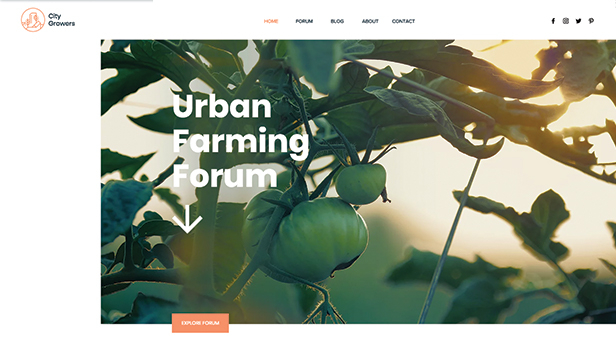 ライフスタイル website templates – Urban Farming Forum