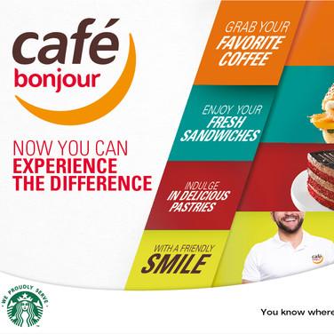 Cafe Bonjour Branding