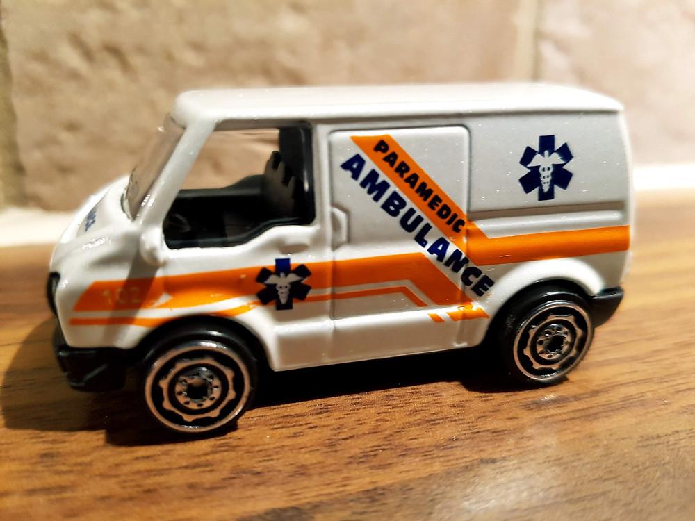 Matchbox ambulance.