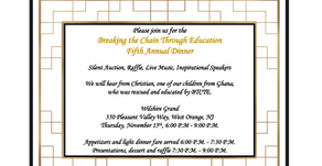 2018 Breaking the Chain Through Education Gala